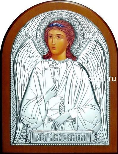 Серебряная икона Ангела Хранителя (12*16см., «Галерея благолепия», Россия) в дорожном футляре