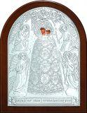 Икона Богородицы «Прибавление ума» (12*16) в серебре
