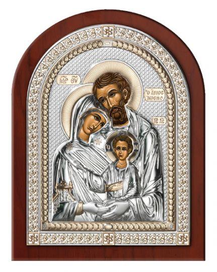 Серебряная икона Святое Семейство в рамке (Valenti & Co, Италия)