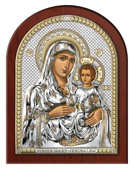 Серебряная икона Божья Матерь Иерусалимская (Valenti & Co, Италия)