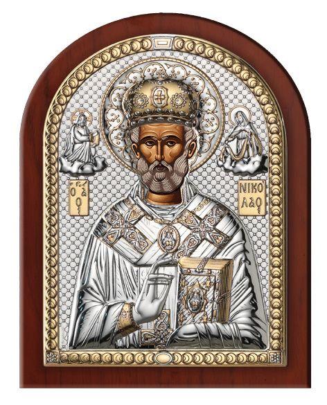 Серебряная икона Святой Николай (Valenti & Co, Италия)