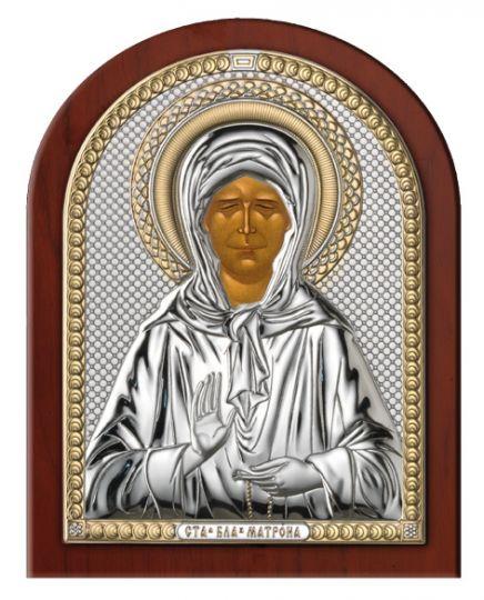 Серебряная икона Святая Матрона (Valenti & Co, Италия)