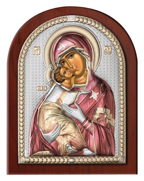 Серебряная икона Божья Матерь Владимирская (Valenti & Co, Италия)