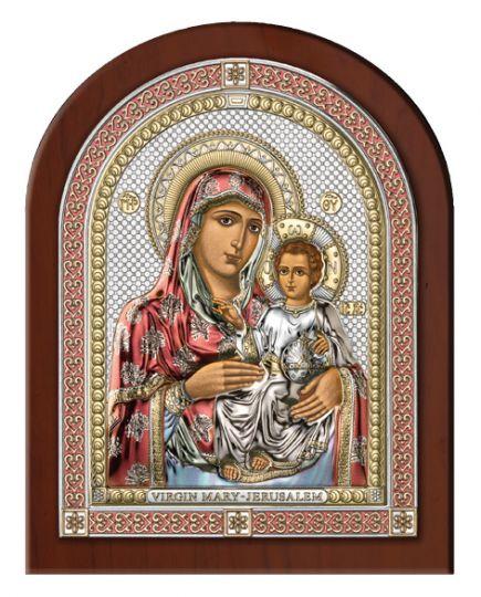 Серебряная икона Божья Матерь Иерусалимская (Valenti & Co, Италия, эксклюзивная рамка)