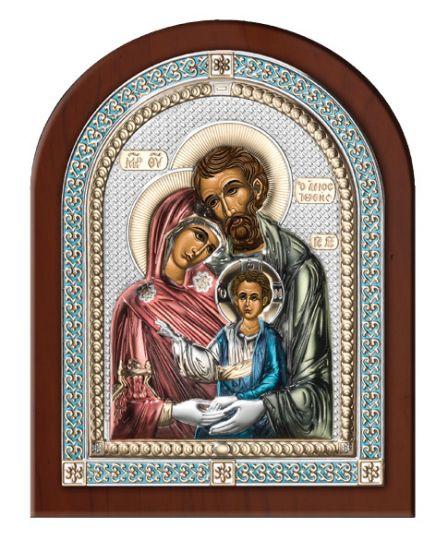 Серебряная икона Святое Семейство (Valenti & Co, Италия, эксклюзивная рамка)