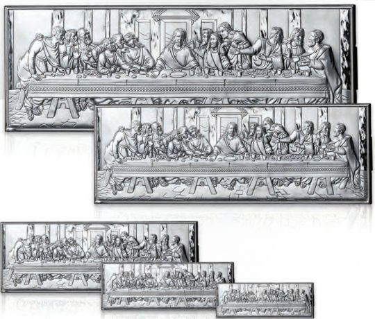 Серебряная миниатюра «Тайная вечеря» (Valenti & Co, Италия)