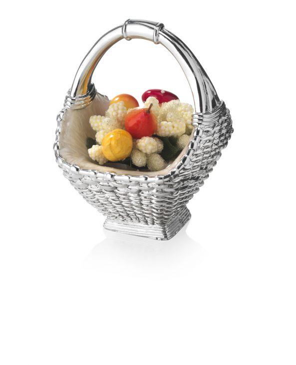 Серебряная вазочка-корзинка с фруктами (Valenti & Co, Италия)