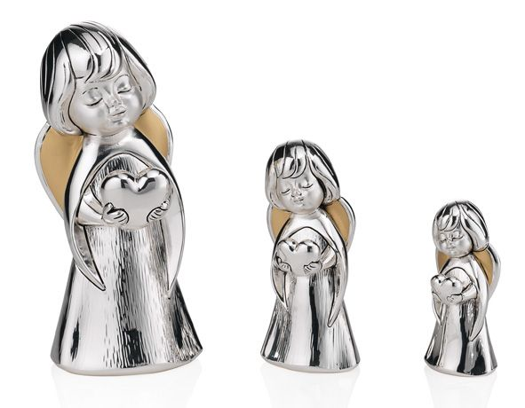 Серебряная фигурка ангела с сердцем (Valenti & Co, Италия)