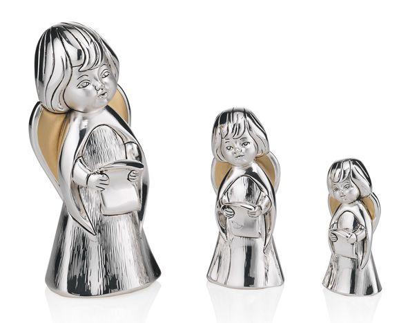 Серебряная фигурка поющего ангела (Valenti & Co, Италия)