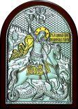 Икону Святого Георгия Победоносца (14.5*20) в серебре с золочением купить