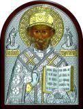 Икону святителя Николая Чудотворца (Угодника) (12*16) в серебре с золочением купить