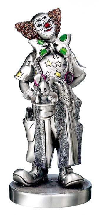 Серебряная коллекционная фигурка клоуна-фокусника (Valenti & Co, Италия)