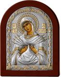 Серебряная икона Богоматерь Семистрельная (Valenti&Co, Италия, прозрачный лак, повышенное качество!)
