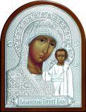 Серебряная икона Богородицы «Казанской» (19*25см.) в дорожном футляре Галерея Благолепия