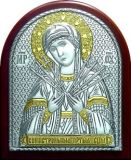 Икона Богородицы «Семистрельной» (7*8.5) в серебре с позолотой галерея благолепия