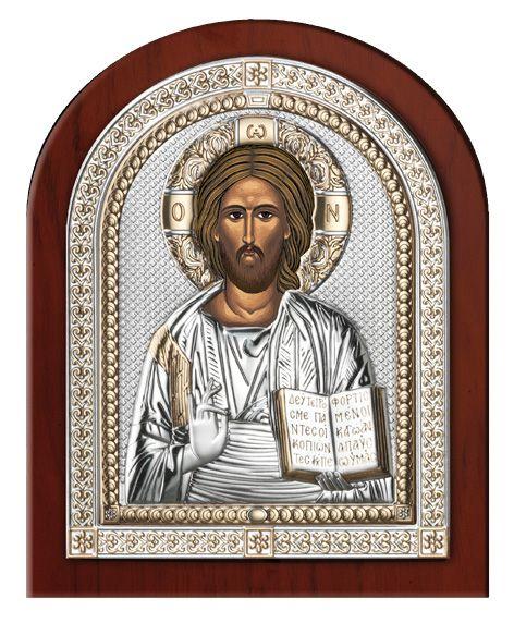 Серебряная икона Иисуса Христа Спасителя (Valenti & Co, Италия, эксклюзивная рамка)