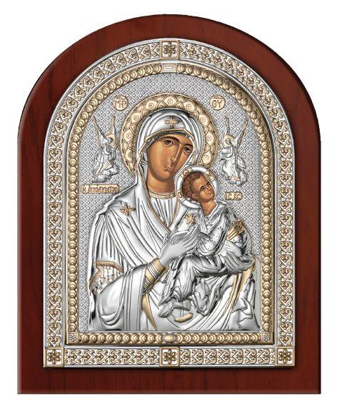 Серебряная икона Дева Мария Амолинта (Благая) (Valenti & Co, Италия, эксклюзивная рамка)