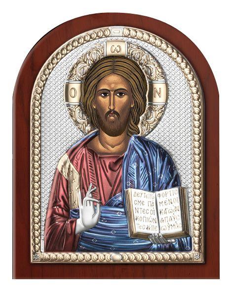 Серебряная икона Иисуса Христа Спасителя (Valenti & Co, Италия)