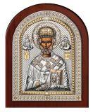 Серебряная икона Святой Николай (Valenti & Co, Италия, эксклюзивная рамка)