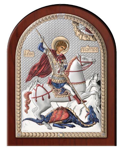 Серебряная икона Святой Георгий (Valenti & Co, Италия)