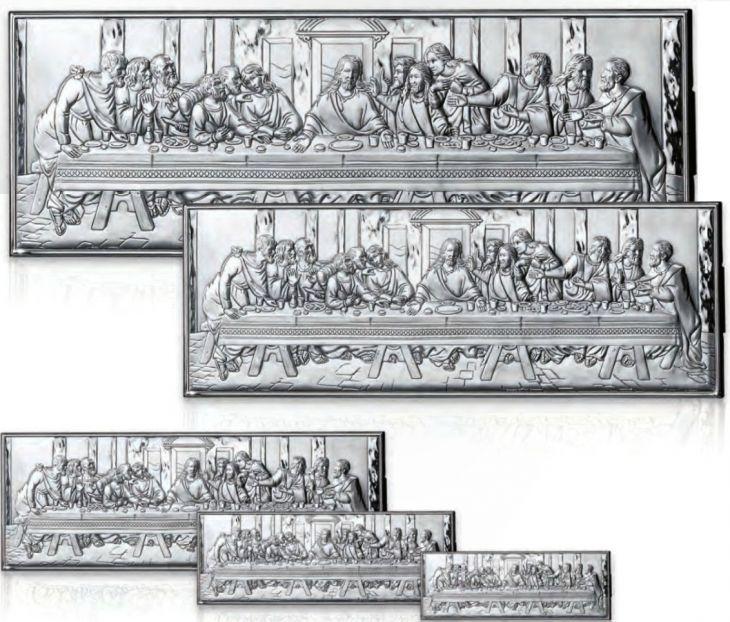 Серебряная миниатюра «Тайная вечеря» (Италия)