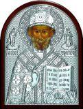 Икону святителя Николая Чудотворца (Угодника)  (9*11) в серебре купить