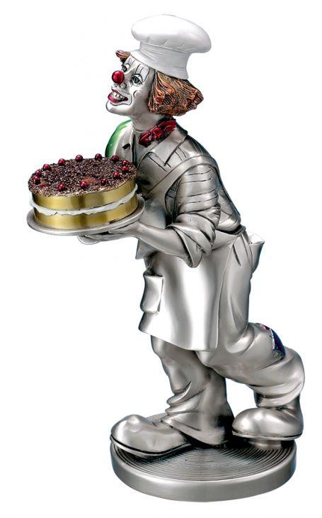 Серебряная коллекционная фигурка клоуна-кондитера (Италия)