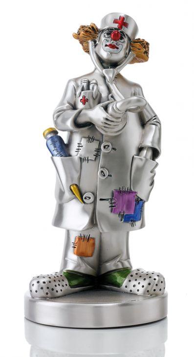 Серебряная коллекционная фигурка клоуна-доктора (Италия)