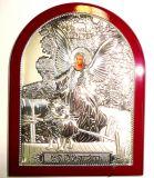 КРАСНОЕ ДЕРЕВО Серебряная икона Ангела Хранителя ребенка (12*16см., «Галерея благолепия», Россия)