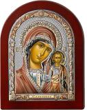 Серебряная икона Богоматерь Казанская (Valenti&Co, Италия, цветной лак, повышенное качество!) купить