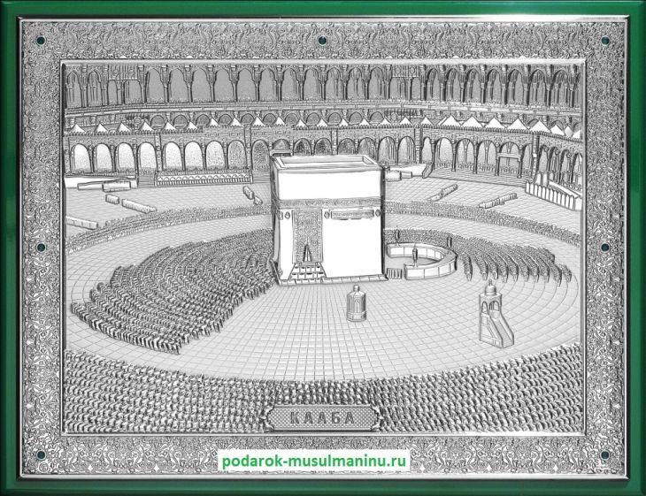 Священная Кааба с изумрудами (серия «Престиж», серебро), 35*26см.