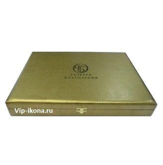 Подарочная коробка «Галерея Благолепия» для иконы размером 9*11см. («кожа змеи»)